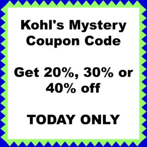Kohl's 40 off coupon code today only
