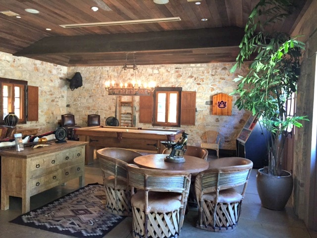 Holman Ranch game room