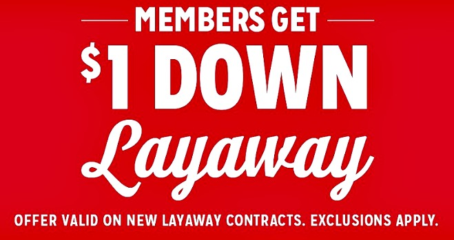 Looking for a layaway plan you can start online? Kmart has 1 Dollar Down Online Layaway for 2017. See what you can put on layaway at Kmart.