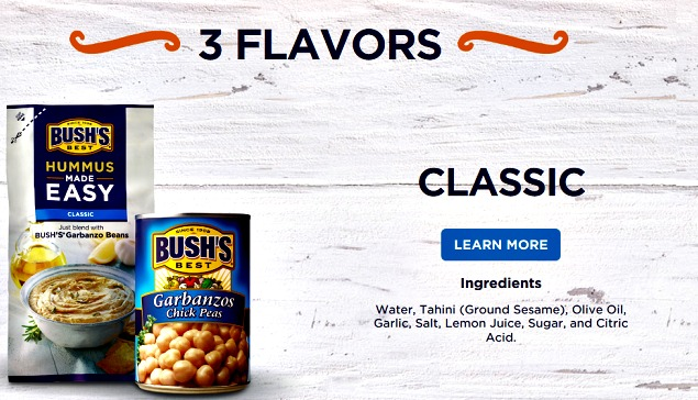 Bush's Hummus Made Easy Classic flavor