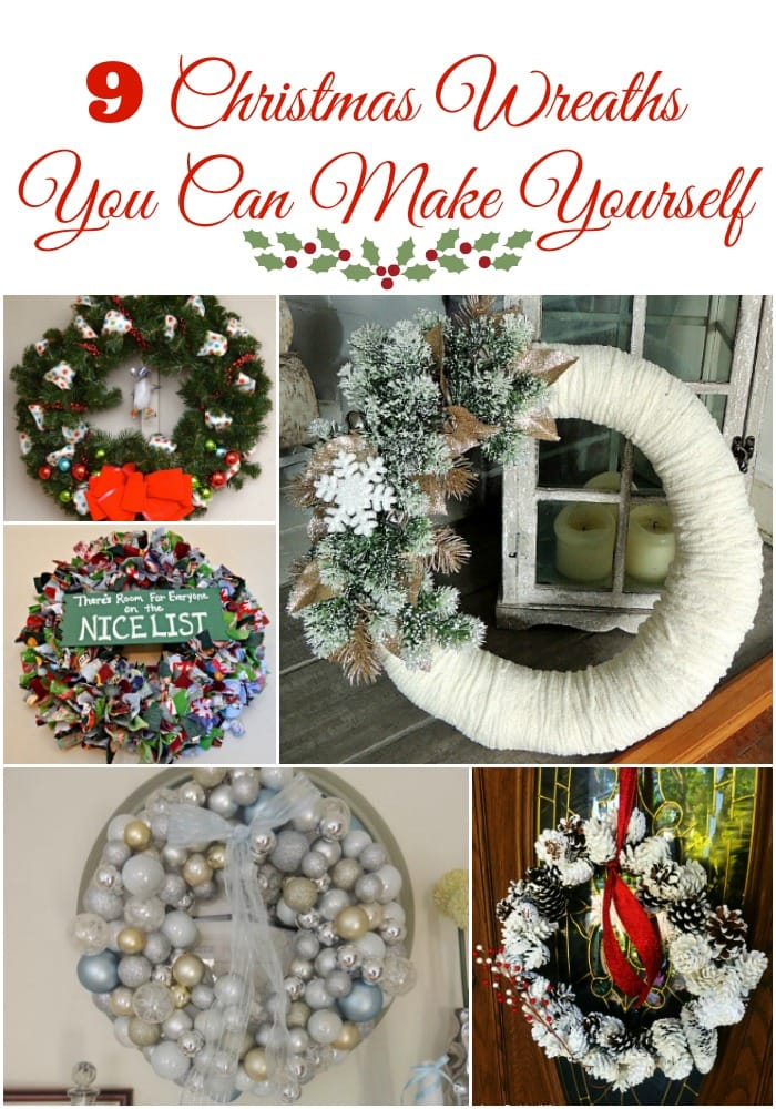 9 Beautiful Christmas Wreaths You Can Make Yourself Easy