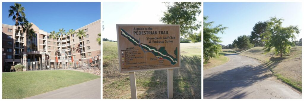 Walking trails at Embassy Suites in Phoenix-Scottsdale