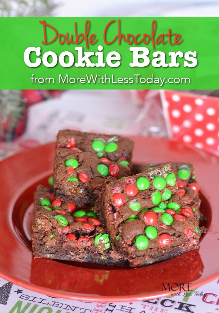 Are you looking a baking recipe for the holidays? This Double Chocolate Cookie Bar recipe uses quality ingredients found at Walmart.