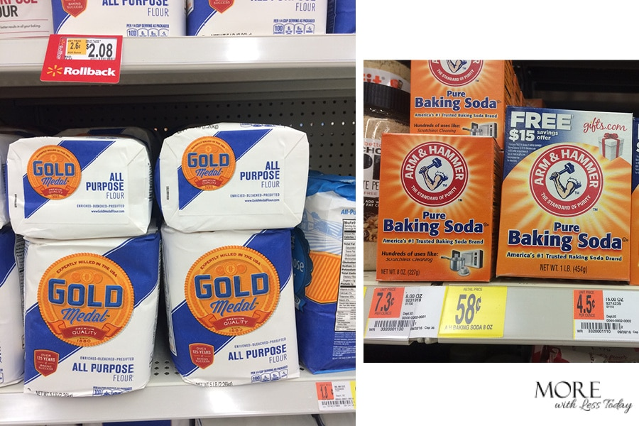 Gold Medal Flour and Arm & Hammer Baking Soda cookie bar recipe Walmart