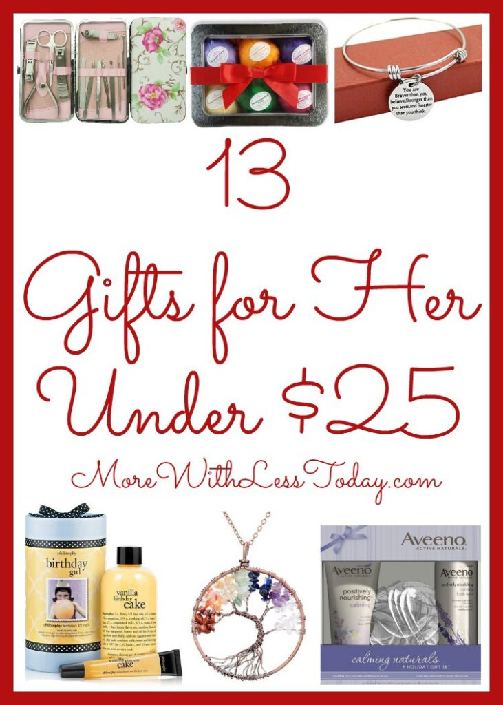 Are you looking for inexpensive yet lovely gifts for a woman on your list? View our Gift Guide: 13 Popular Ideas for Her Under $25