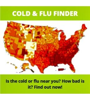Cold and Flu Finder map