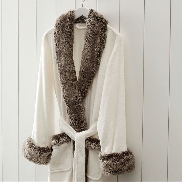 fur robe seen on Kathie Lee and Hoda