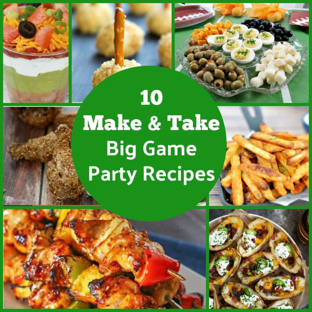 "Will you be going to a party for the big game this year? We put together a roundup of easy ""make and take"" party recipes that are not only perfect for the football watching parties but are great for any potluck or get together."