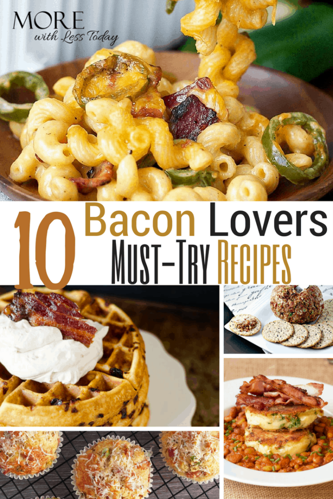 Are you a bacon lover? We have delicious bacon recipes for appetizers, main dishes, and desserts from top food bloggers that you'll love.