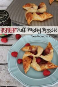 Raspberry Puff Pastry Pinwheels - By- See Mom Click