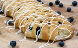 Blueberry Cream Cheese Braid - By- Wanna Bite