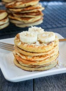 Coconut Flour Pancakes - By- Hungry Hobby