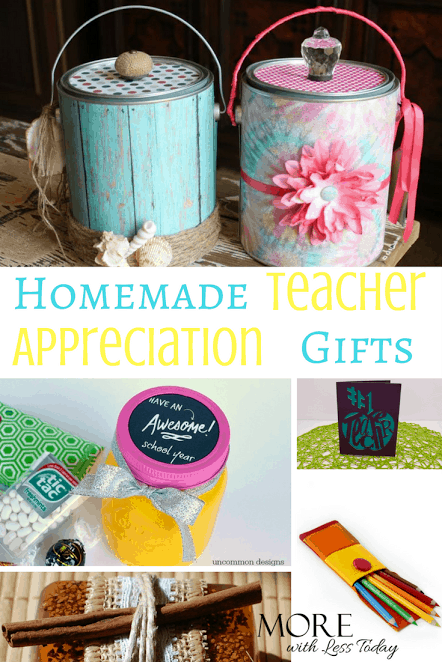 Homemade Teacher Appreciation Gifts - Creative Ways to Thank a Favorite Teacher. Here are creative and inexpensive ways to say thank you to a teacher they will be sure to appreciate.