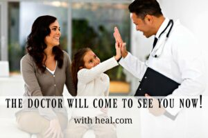 Did you know there are doctors who make on-demand house calls? The Doctor will come to see you now at your home, office, 7 days a week with heal.com