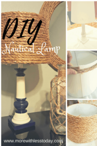 Turn an Old Lamp to Nautical Decor