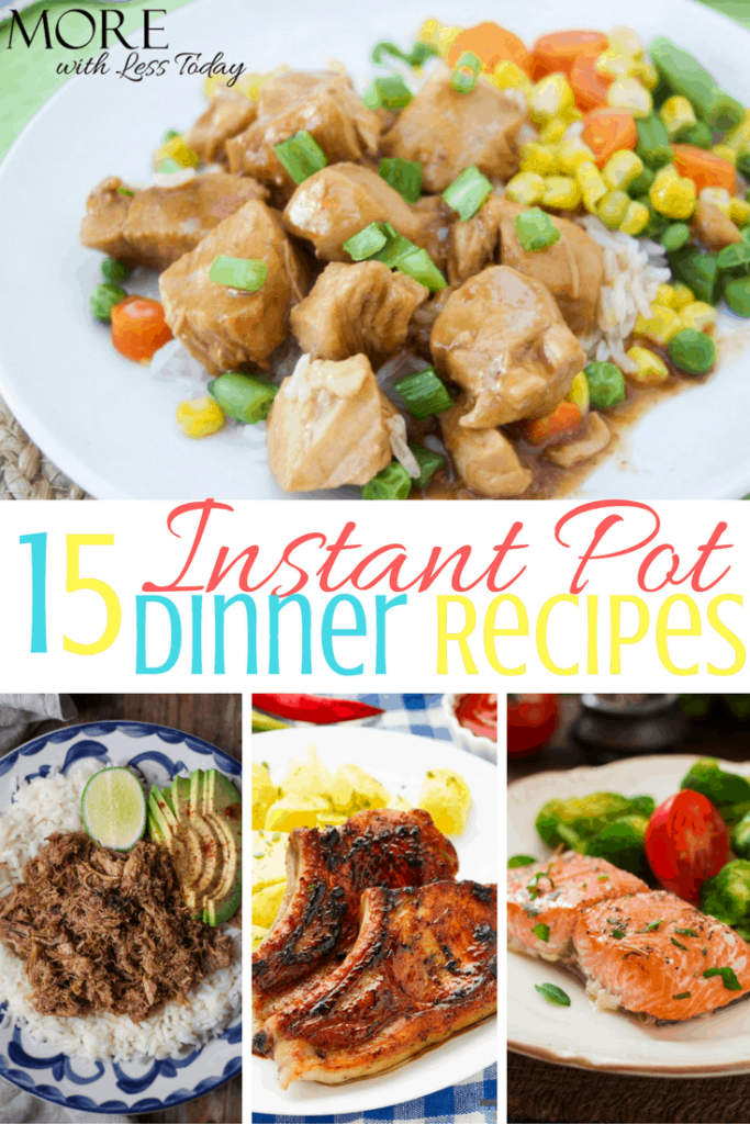 Are you looking for new recipes for your Instapot? We found 15 Instant Pot recipes for fast dinners everyone will love. What are you cooking tonight?