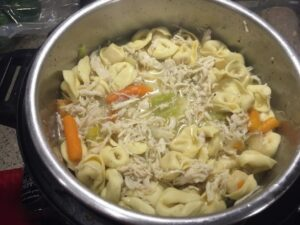 Chicken Tortellini Soup recipe made in an Insta Pot - By- Real Mom Reviews