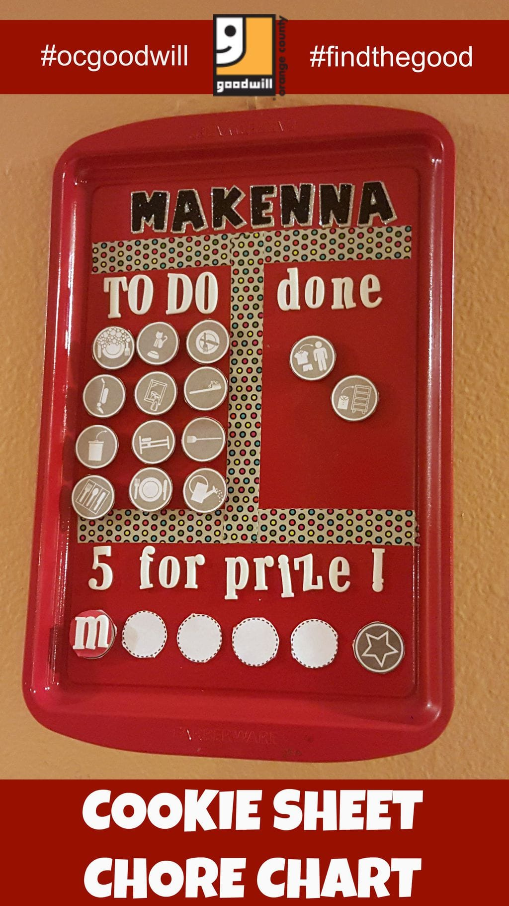 Make A Kids Chore Chart From A Cookie Sheet Recycled Fun
