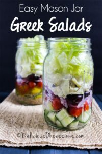 Mason Jar Greek Salad recipe