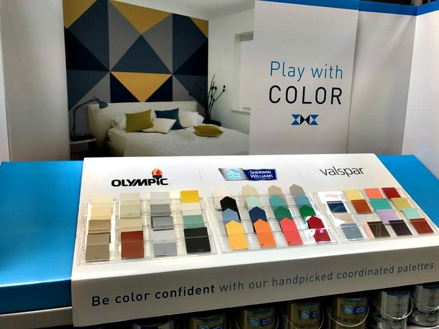 Lowe's paint handpicked coordinated palettes