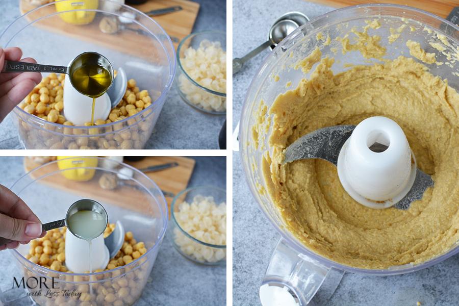 Easy Homemade Hummus from Garbanzo Beans