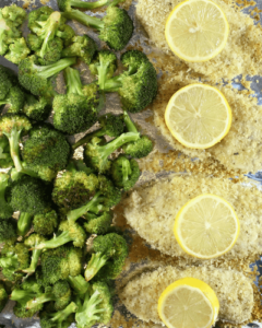 Crunchy Lemon Parmesan Chicken with Broccoli from Simply Made Recipes