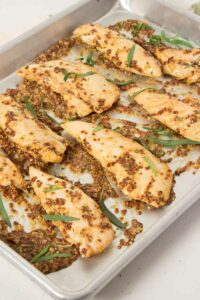 Mustard Baked Chicken Tenders from The Fit Blog
