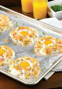 Ham and Cheese Egg Puffs from The Flying Couponer