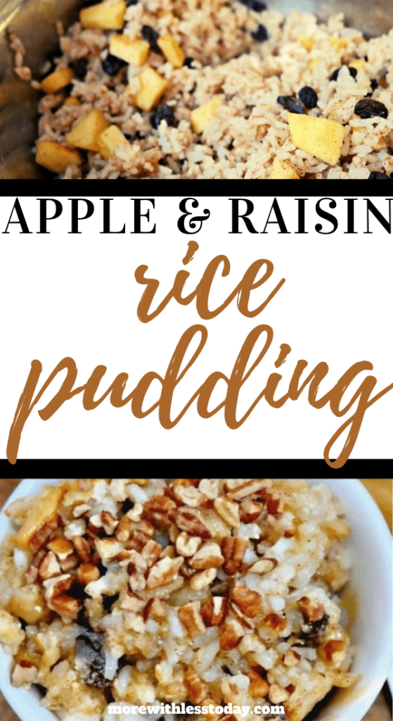 Apple and Raisin Rice Pudding recipe