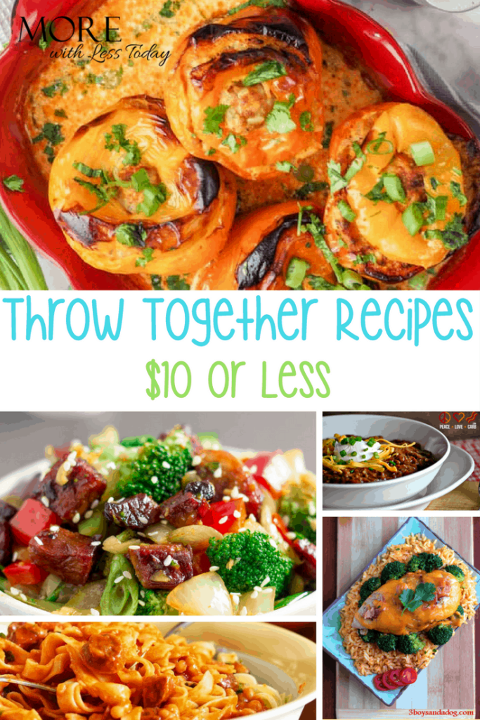 Easy Dinner Ideas You Can Throw Together Fast for $10 or Less photo collage