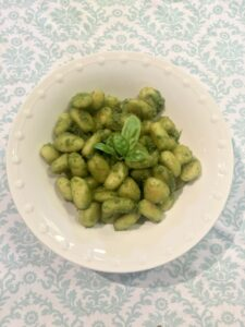 Gnocchi with Fresh Basil Pesto from The Urben Life