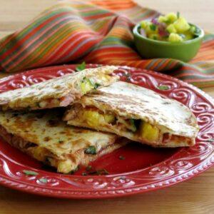 Hawaiian Pizza Quesadillas from The Dinner Mom