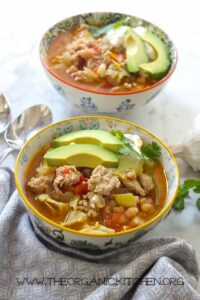 30 Minute Chicken and White Bean Chili from The Organic Kitchen