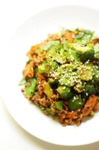 Korean BBQ: Salmon Stir Fry from Strength and Sunshine