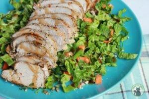Easy Pork Tenderloin Recipe with Asian Slaw from Thrifty Jinxy