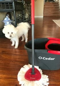 using O-Cedar EasyWring Spin Mop and Bucket System