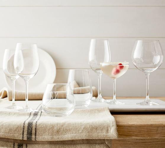 wine glasses Pottery Barn