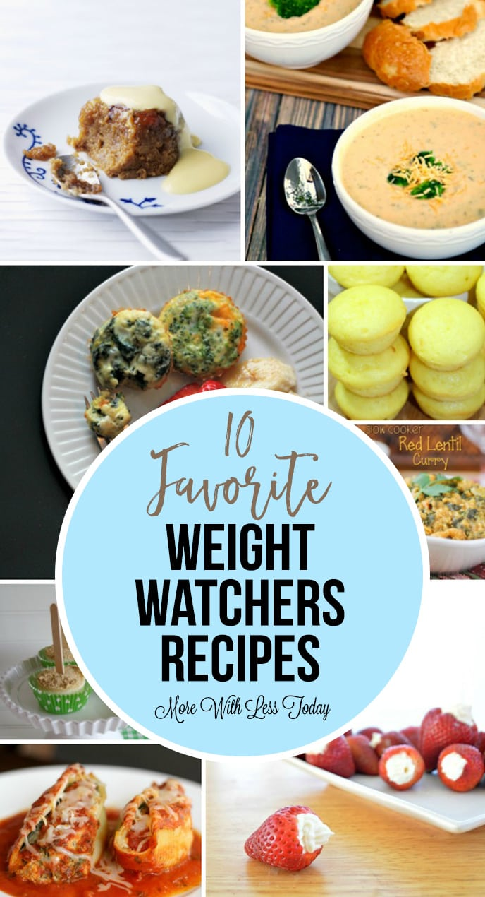 collage of favorite Weight Watchers Recipes