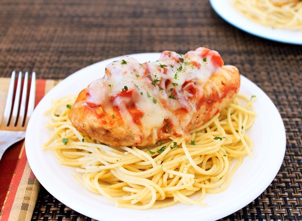 Easy Slow Cooker Chicken Parmesan from A Magical Mess