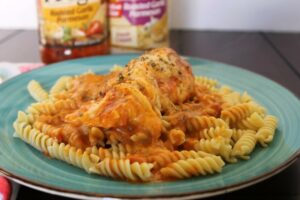 Easy Slow Cooker Italian Chicken with Pasta from Finding Sanity