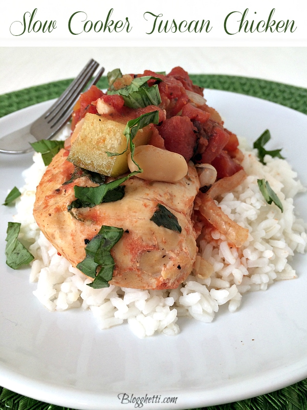 Slow Cooker Tuscan Chicken from Blogghetti