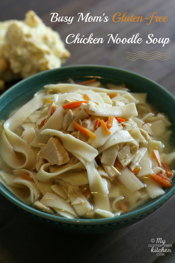 Busy Mom's Slow Cooker Chicken Noodle Soup (Gluten-Free) from My Gluten-Free