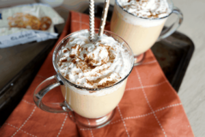 Pumpkin White Hot Chocolate from The Baking Fairy