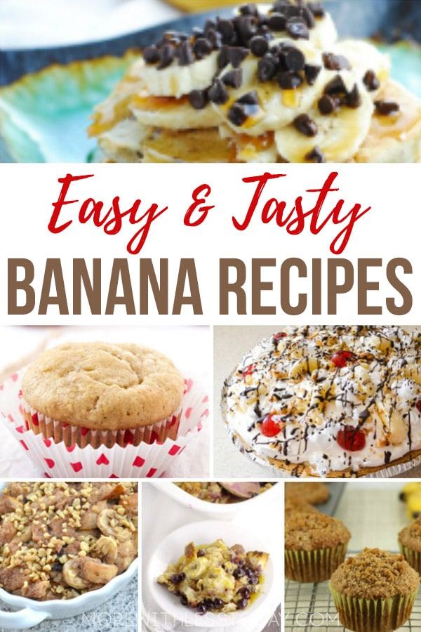 Favorite Banana Recipes - What to Make with Leftover Bananas. No need to throw away bananas. Enjoy these easy and tasty bananas recipes from top recipe creators. #banana #bananarecipes