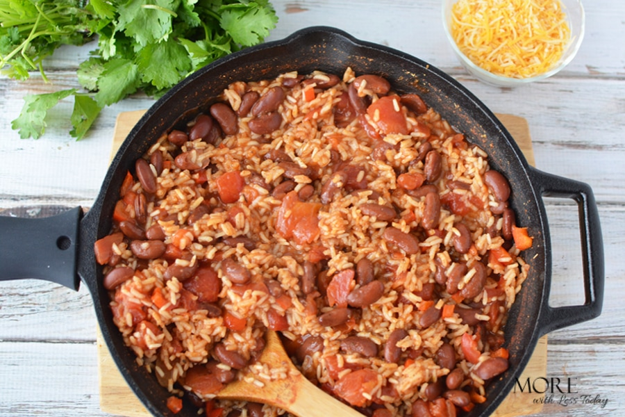 30 minute low cost meal Easy New Orleans Red Beans and Rice