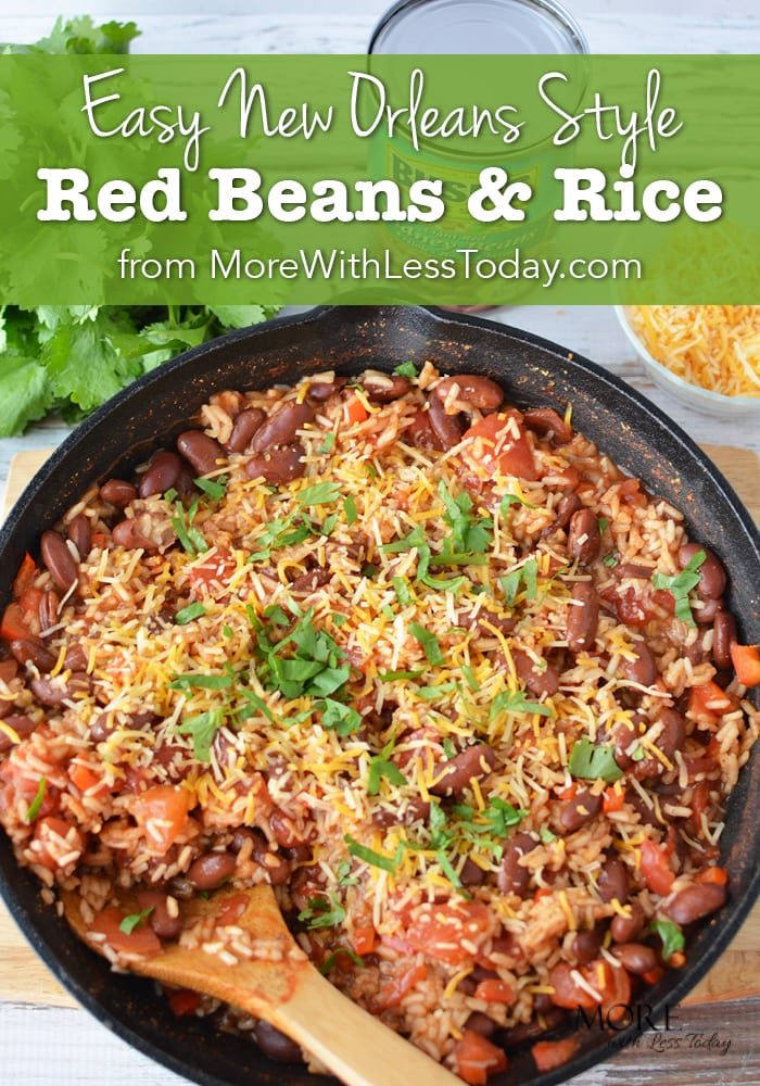 Here is some comfort food to fill the tummy! Easy New Orleans Style Red Beans and Rice Recipe - Meatless Meals are dollar stretchers too.