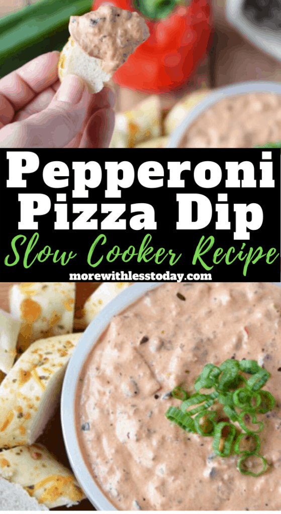 Pizza Dip recipe made in a crockpot