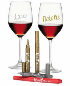 Vino Marker Metallic Wine Glass Pens - Pack of 4