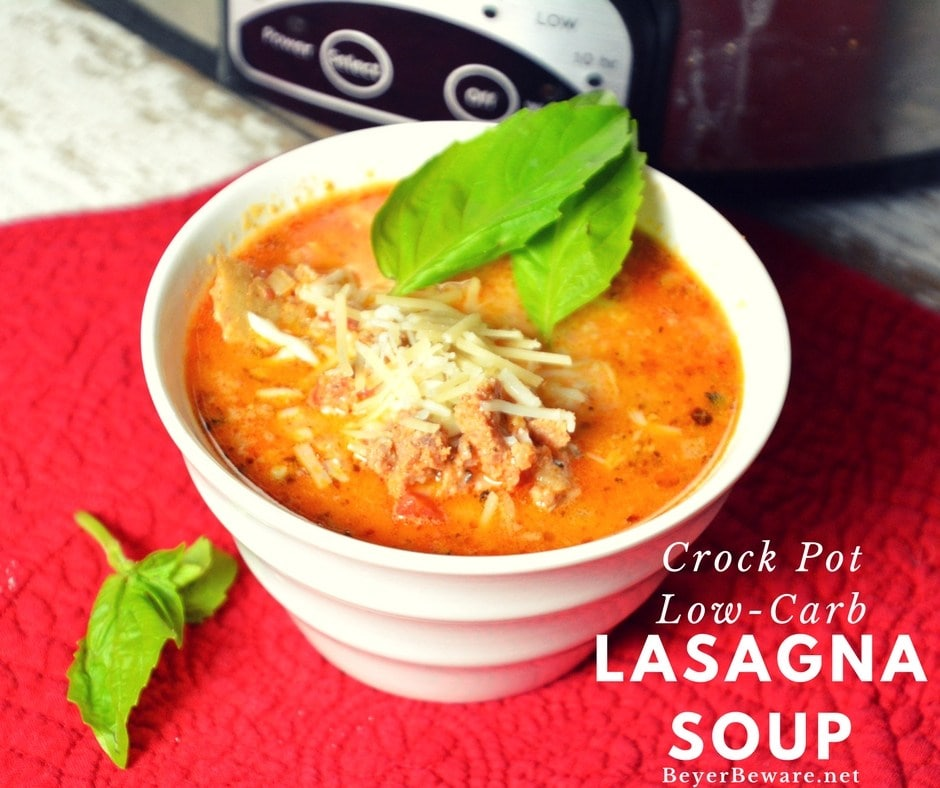 Crockpot Lasagna Soupby Beyer Beware