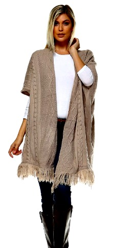 cardigan with fringe Overstock